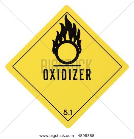 Oxidizer Warning Label