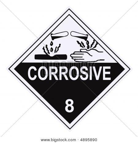 Corrosive Warning Placard