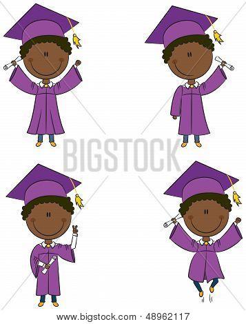 Graduation African-american Boy
