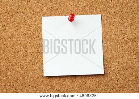 Blank Note At The Corkboard