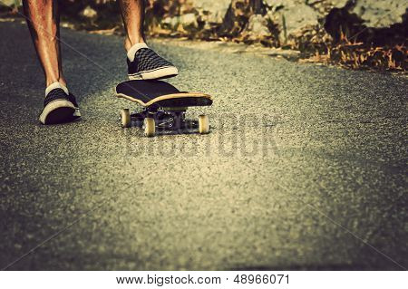 Skateboard Foot Closeup