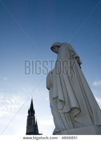 Virgin Mary Statue In Lourdes