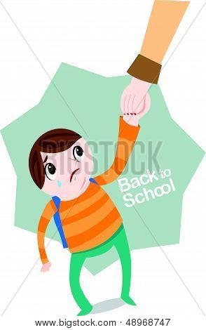 Boy at school
