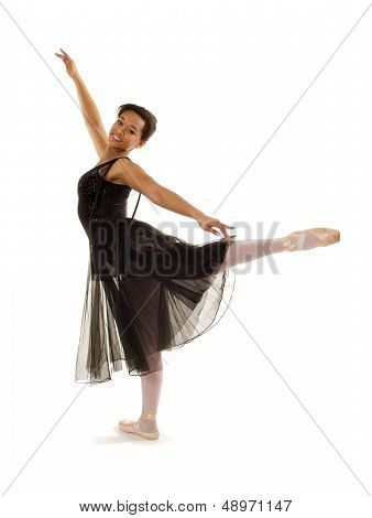 Smiling Ballerina In Arabesque