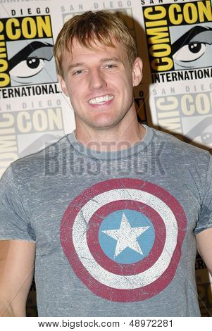 SAN DIEGO, CA - JULY 20: Actor Cody Deal arrives at the 2013 Comic Con press room at the Hilton San Diego Bayfront hotel on July 20, 2013 in San Diego, CA.