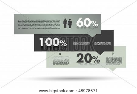 Modern box diagram for infographics. Vector module chart.