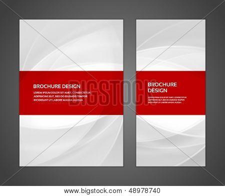 Plantilla de diseño de negocios de folleto o banner. Abstract vector de fondo.