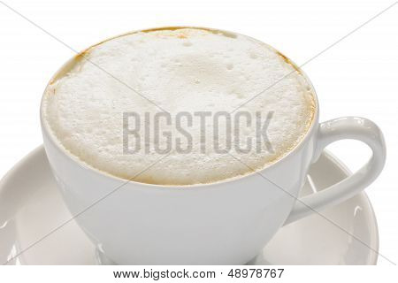 Cappuccino with a frothy white top