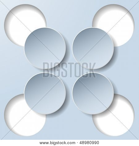 Abstract paper infographics. Internal and external data concept. Raster copy of vector illustration