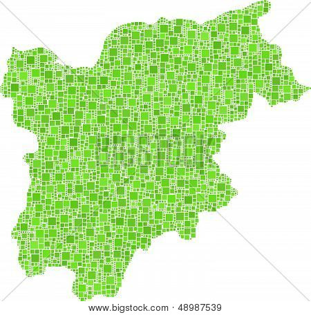 Map of Trentino Alto Adige - Sudtirol -