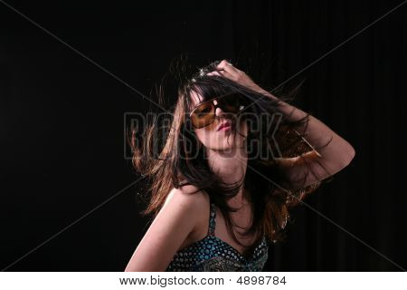 Stylish Woman With Long Hair