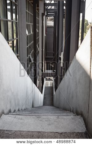 External Staircase In A Modern Building