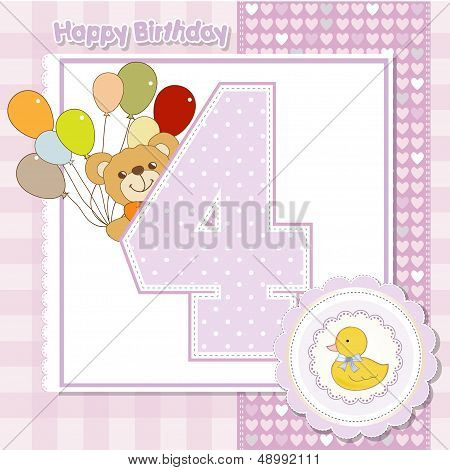 The Fourth Anniversary Of The Birthday Card