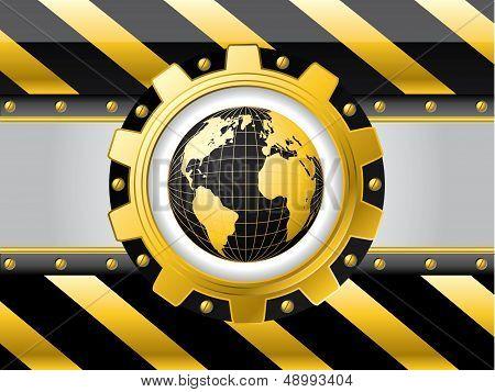 Striped Globe Background