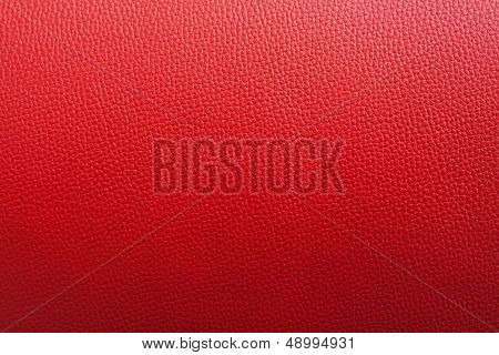 Red Leather Backgroung With Rough Surface