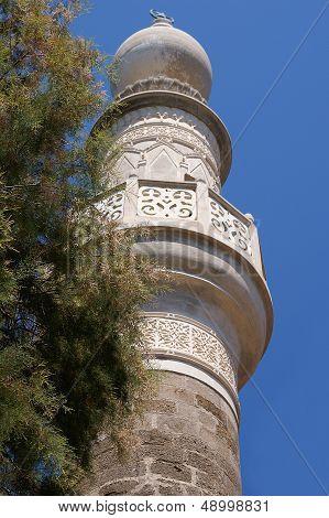 White Stone Mosque Minaret