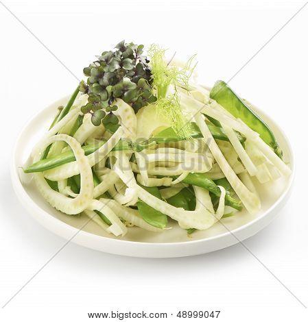 Healthy Fennel Salad With Sugarsnaps