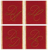 image of dd  - Collection of textile monograms design on a ribbon - JPG