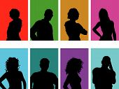 Постер, плакат: Аватар силуэты