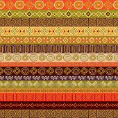 pic of motif  - Various strips motifs in different earth colour - JPG