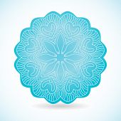 Mandala ornament in blue colors