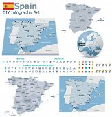 picture of hemisphere  - Kingdom of Spain maps with markers - JPG