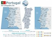 image of municipal  - Portugal maps with markers - JPG