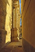 stock photo of ares  - View to the Cathedral from narrow street - JPG
