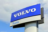 Volvo Trucks Sign Against Sky