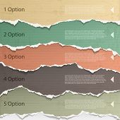 pic of cut torn paper  - Design elements  - JPG
