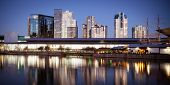 picture of polly  - Melbourne Exhibition Centre from over the Yarra River at dusk - JPG