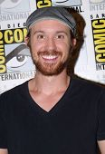 SAN DIEGO, CA - JULY 20: Sam Huntington arrives at the 2013 Comic Con press room at the Hilton San D