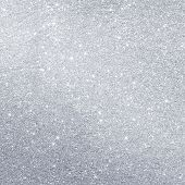 foto of glitter sparkle  - Silver glitter holidays background with copy space - JPG
