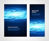 stock photo of brochure  - Brochure business design template or banner - JPG
