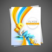 Professional business flyer template, corporate brochure or cover design, can be use for publishing,