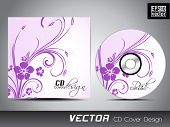 CD cover with floral designs for your business.