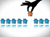 picture of house rent  - Concept illustration of Home or House Buying - JPG