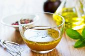 picture of vinegar  - Homemade Wholegrain mustard vinaigrette by fresh ingredients