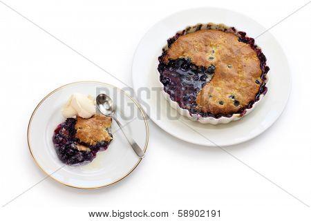 blueberry cobbler, traditional american dessert