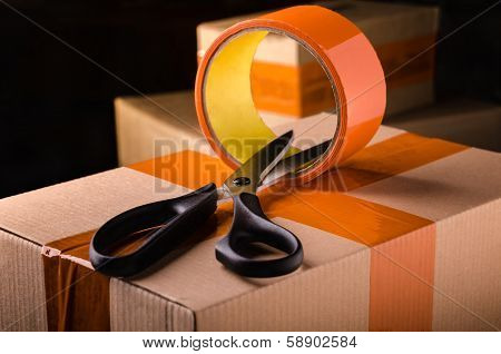 Scissors And Scotch Tape Box