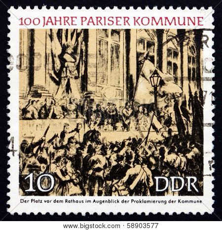 Postage Stamp Gdr 1971 Proclamation Of The Paris Commune