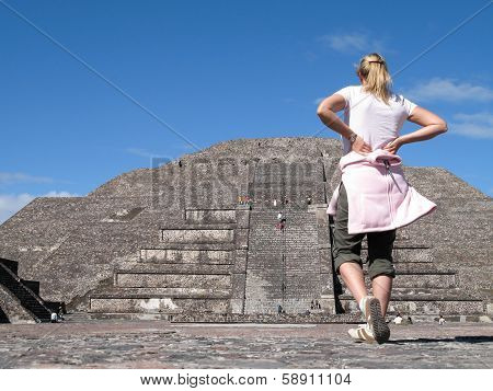 Young Woman With Pyramid
