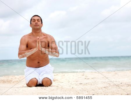 Handsome Yoga Man