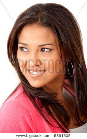 Woman Portrait Looking Back