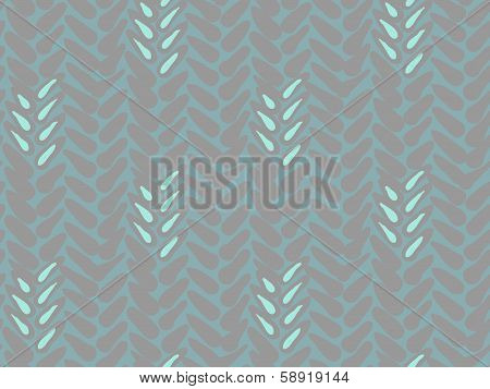 Pattern with stylized wheat and rye plant motifs