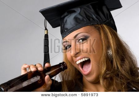 Happy Graduate Drinking
