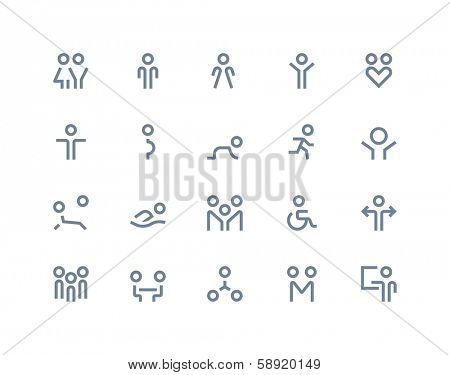 People and family icons. Line series