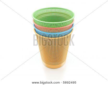 Colorful Trash Bins