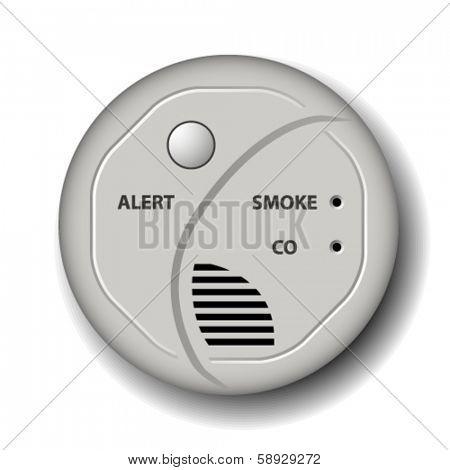 vector fire smoke carbon monoxide detector alarm