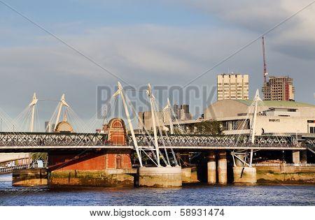 Millenium Bridge in London, UK, Europe